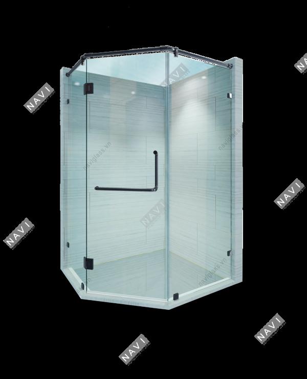 phòng tắm phụ kiện màu đen titan