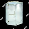 Phòng tắm kính 135 độ phụ kiện màu vàng